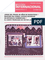 Revista Internacional-Nuestra Época-Edición Chilena- Diciembre de 1984