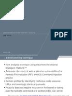 Q4 2014 Security Report Botnet Profiling Technique Presentation