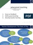 Sutton Trust at Meridian School - Developing Great Teaching