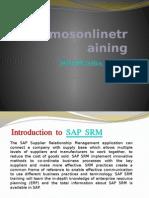 SAP SRM Online Training