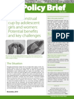Policy Brief (No. 22, 2010) Use of Menstrual Cup by Adolescent Girls and Women.potential Benefits and Key Challenges