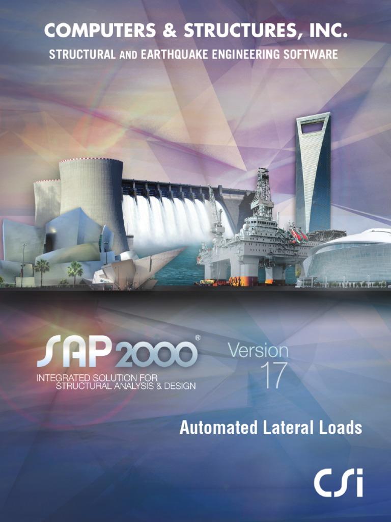 lateral loads manual for sap2000 structural load technical support rh es scribd com manual sap2000 v15 español manual sap2000 v15