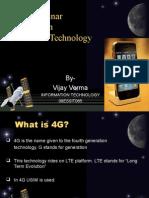VIJAY 4g Wireleess Technology Ppt 2