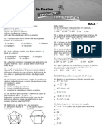 Projeto Matemática - Aula 7-2014