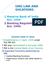 Banking Law and Regulations