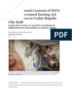 Controversial Content of WPA Mural Recreated During Art Restoration in Cedar Rapids City Hall