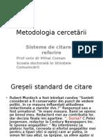 Metodologia Cercetarii Sisteme de Citare