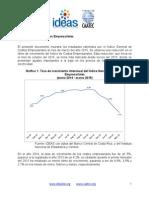 Reporte Mensual (Marzo 2015) - Índice General de Costos Empresariales