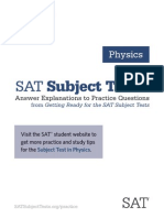 Subject Tests Answer Explanations Physics
