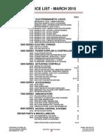 Dortronics Price Book- 2015