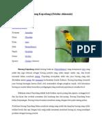 Burung Kepodang