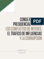 Informe Consejo Asesor Presidencial 2015