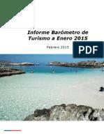 Informe Barómetro de Turismo a Enero 2015