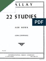 Gallay - 22 Estudos