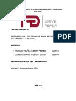 Informe 3 Instrumentos y/o Técnicas para medir el caudal (Volumétrico y Másico) UTP