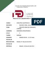 Informe 1 Circuito Serie de Corriente Alterna UTP