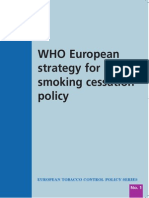 WHO Strategy for Smoking Cessation