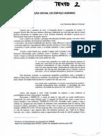 A Produção Do Espaço Agrário. Luiz Fernando Mazzini Fontoura