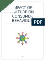 impact of culture on consumer behaviour