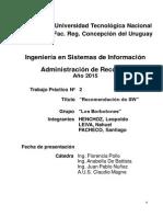 TP 2 - Recomendación de HW - 2° Etapa