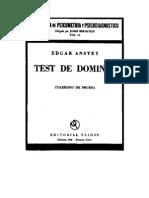 Test de Dominós Protocolo
