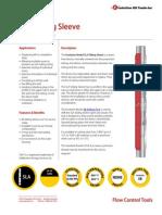 SLA Sliding Sleeve Product Datasheet