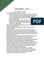 Dr Administrativ - Curs 5