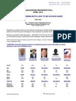 Mason Dixon LG/SOS poll - Tate Reeves and Delbert Hosemann both up 20+%