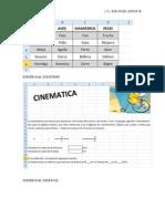 Concatenar y Cinematica