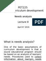 8th Needs Analysis 2015