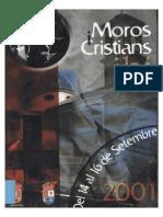 2001 - Libro Oficial de Fiestas de Moros y Cristianos de Ibi