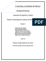 Práctica 9 Descomposición Catalítica Previo
