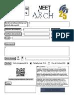 Formulario Meet Arch