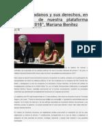 """27.04.2015 """"Los ciudadanos y sus derechos, en el centro de nuestra plataforma electoral 2015"""", Mariana Benítez"""