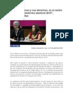 28.04.2015 Mariana Benítez Tiburcio, Oaxaqueña, Abogada,  Oaxaca, leyes, justicia, negociar, arraigo, honestidad.