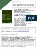 The Organization of Denial - Environmental Politics Article