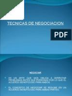 Técnicas de Negociación.