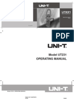 Manual Multimetro Serie Ut231