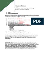 Club Website Guidelines