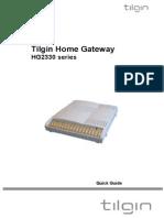 Tilgin HG2330 QuickGuide