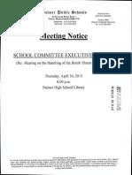 Palmer School Commitee
