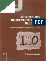 CJ 100, Cristianismo Beligerante con la Injusticia - F Javier Vitoria