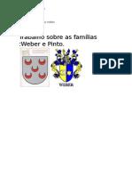 Famílias Weber e Pinto