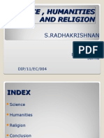 Science , Humanities and Religion