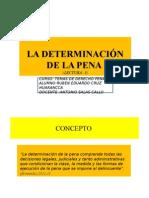 La Determinacio v n de La Pena en El Peru