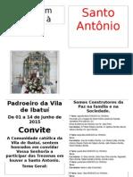 Convite Festa de Santo Antonio Ibatui-2015