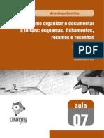 Como Organizar e Documentar a Leitura