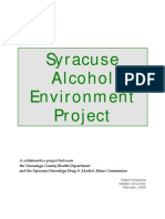 Syracuse Alcohol Environment Project - Report