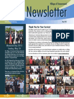 Streamwood Newsletter, May 2015