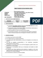Informe excavadora 329D1